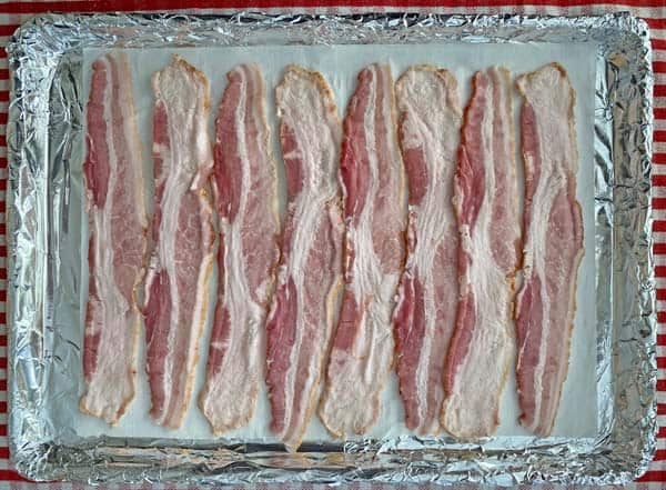 Cook bacon in the oven