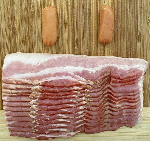 Center cut bacon for wrapping Little Smokies