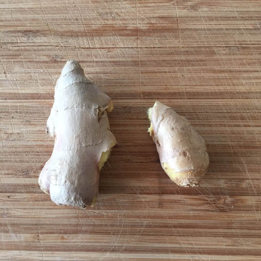 Fresh ginger for bacon fat cookies   Bensa bacon lovers