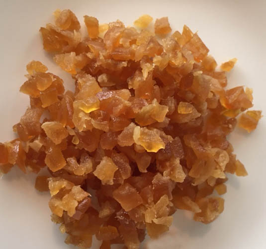 chopped candied ginger