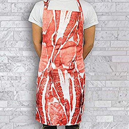bacon printed apron
