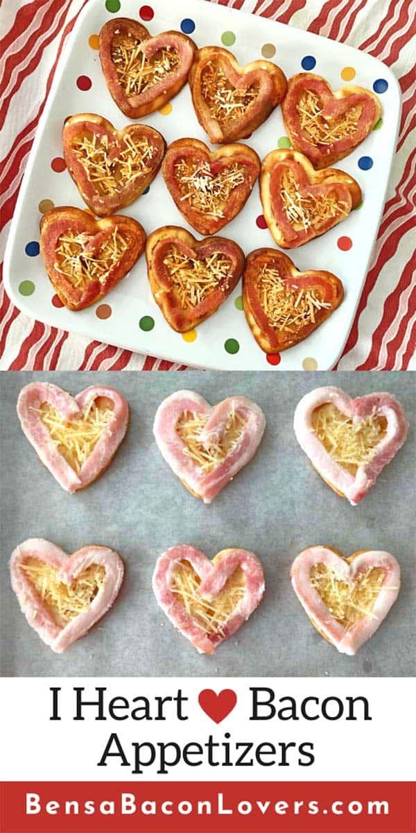 Heart Bacon appetizers Pin