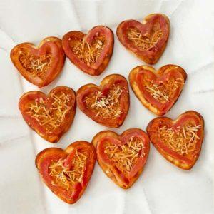 Heart bacon appetizers