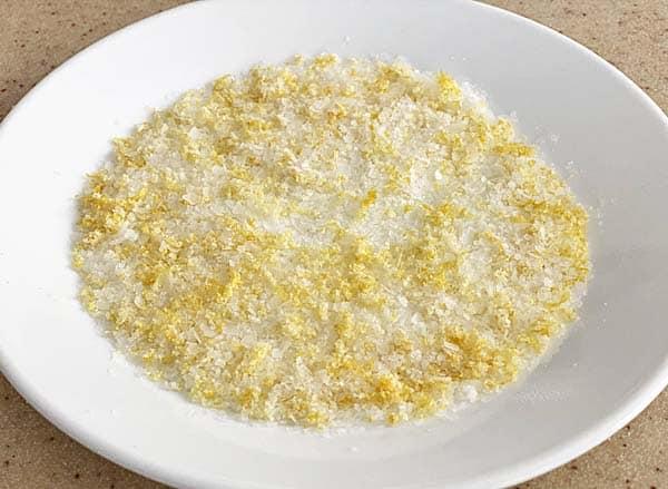 Lemon rim salt for Bloody Marys