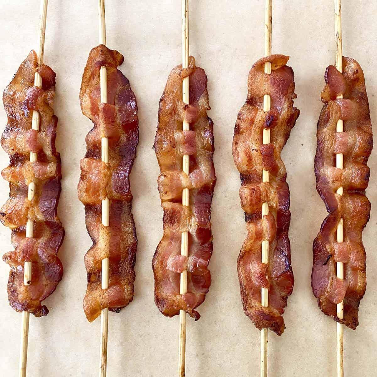 bacon skewers